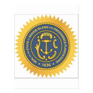 Sello del estado de Rhode Island Postales