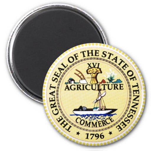 Sello del estado de Tennessee Imán Redondo 5 Cm