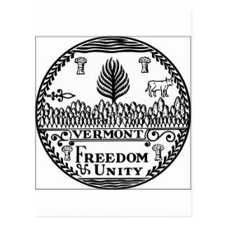 Sello del estado de Vermont Postales