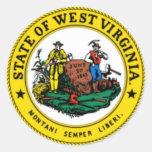 Sello del estado de Virginia Occidental Etiquetas