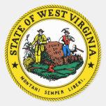 Sello del estado de Virginia Occidental Pegatina Redonda