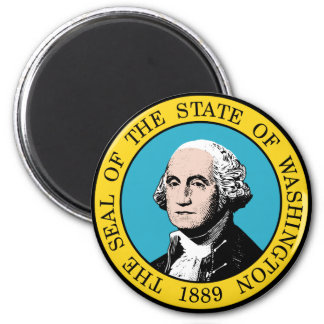 Sello del estado de Washington Imán Redondo 5 Cm