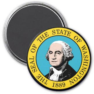Sello del estado de Washington Imán Redondo 7 Cm