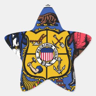 Sello del estado de Wisconsin Pegatina En Forma De Estrella