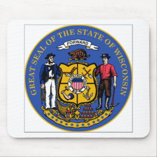 Sello del estado de Wisconsin Tapete De Ratones