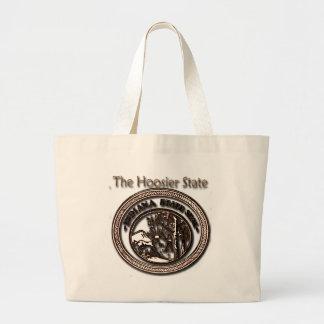 Sello del estado del Hoosier de Indiana Bolsa Lienzo