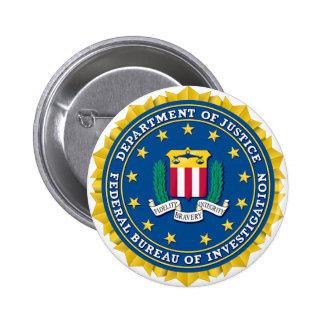 Sello del FBI Pin Redondo 5 Cm