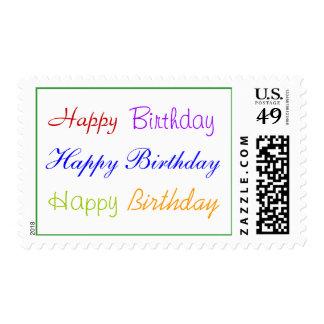Sello del feliz cumpleaños