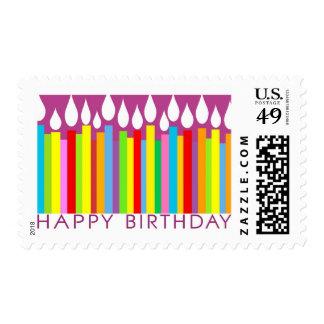 Sello del feliz cumpleaños - general