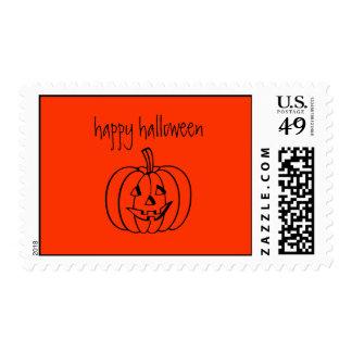 sello del feliz Halloween
