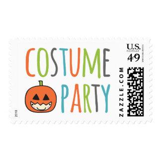 Sello del fiesta del traje de Halloween de los