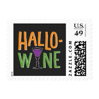 Sello del fiesta del vino de Halloween