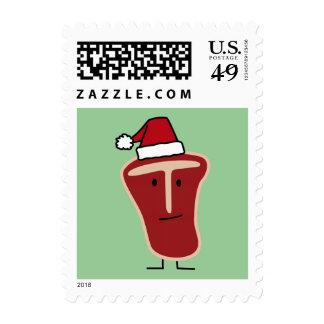 Sello del filete del T-Hueso del navidad