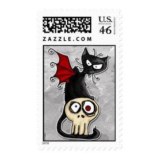 sello del gatito del colmillo
