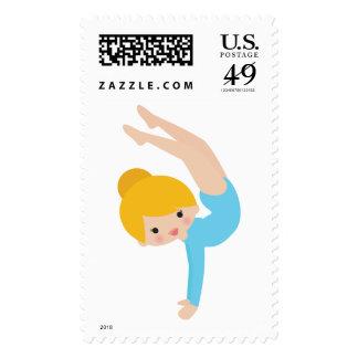 Sello del gimnasta - azul