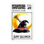 Sello del gorra de las brujas del feliz Halloween