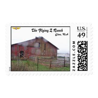 Sello del granero del rancho del vuelo Z