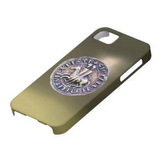 SELLO del gris de los CABALLEROS TEMPLAR iPhone 5 Case-Mate Protectores