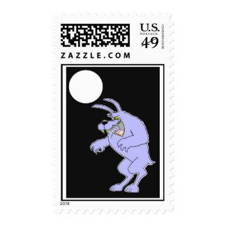Sello del hombre lobo de Halloween