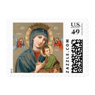 Sello del icono de Jesús de Maria y del niño