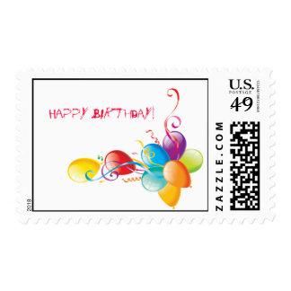 Sello del impulso del feliz cumpleaños