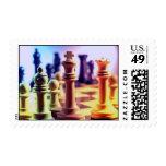 Sello del juego de ajedrez