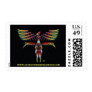 Sello del logotipo del pájaro de la marca registra
