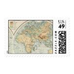 Sello del mapa del mundo del vintage