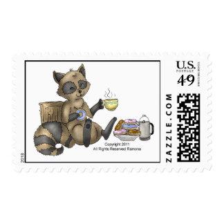 sello del mapache Bocado-en