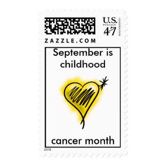 Sello del mes del cáncer de la niñez