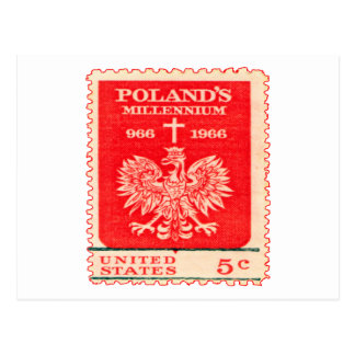 Sello del milenio de Polonia Postales