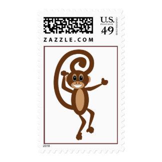 Sello del mono del baile