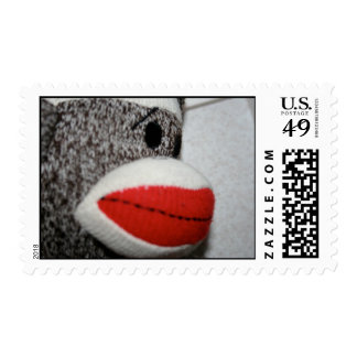 sello del mono del calcetín