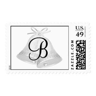 Sello del monograma de Bell de boda (b)