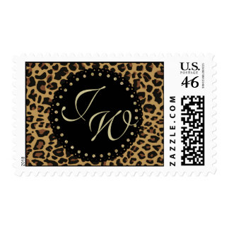 Sello del monograma de la impresión de Jaguar