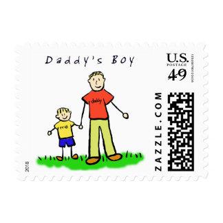 Sello del muchacho del papá (padre y hijo rubios)