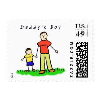 Sello del muchacho del papá (padre y hijo trigueno
