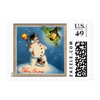 sello del muñeco de nieve de los años 30