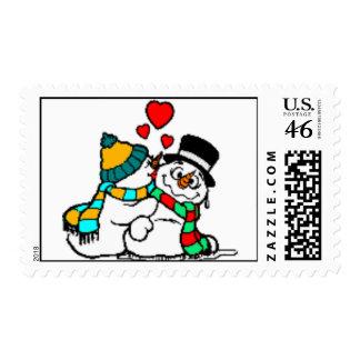 sello del muñeco de nieve
