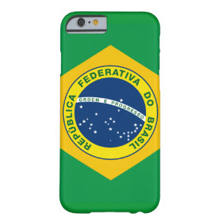 sello del nacional del Brasil Funda De iPhone 6 Barely There