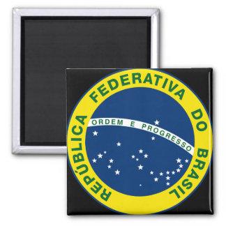 sello del nacional del Brasil Imán Cuadrado