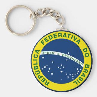 sello del nacional del Brasil Llavero Redondo Tipo Pin