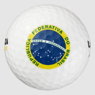 sello del nacional del Brasil Pack De Pelotas De Golf