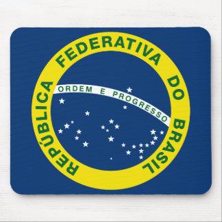 sello del nacional del Brasil Mousepads