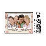 sello del navidad de la foto de familia
