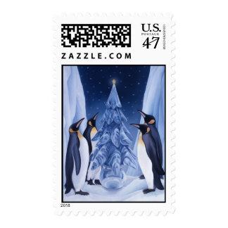 Sello del navidad de los pingüinos