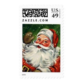 Sello del navidad de Papá Noel del vintage del KRW