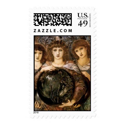 Sello del navidad del ángel de Edward Burne-Jones