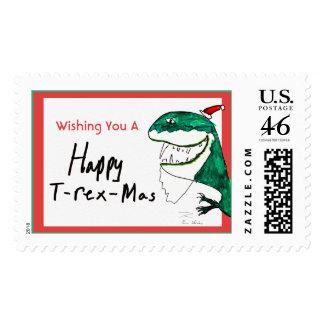 Sello del navidad T-Rex-Mas