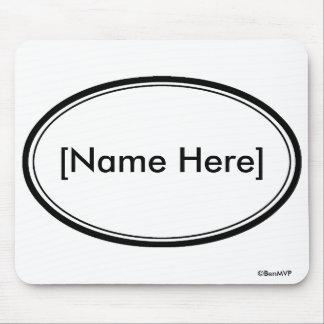 Sello del nombre de Personalizable Tapetes De Raton